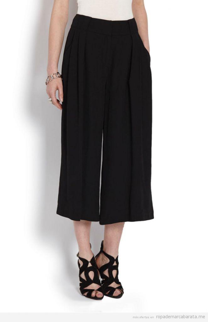 Pantalones anchos palazzo marca Morgan baratos, outlet online
