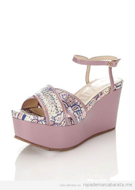 Sandalias cuña marca Galliano baratas, outlet online