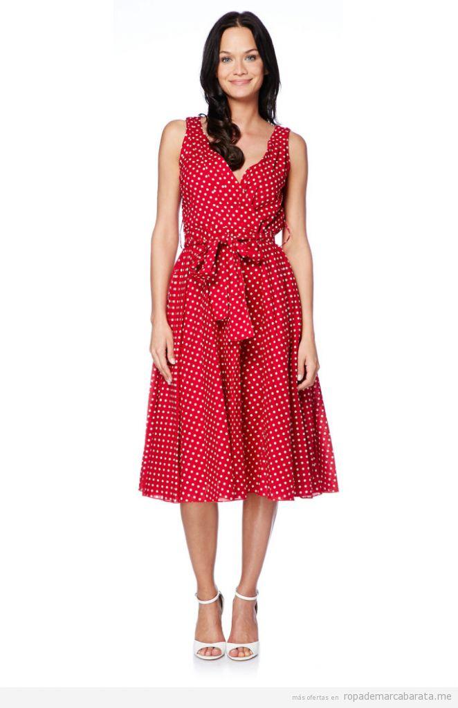 Imagenes De Te Extraño Con Frases Bonitas vestido-verano-rojo-lunares-outlet-online-rebajas-662x1024