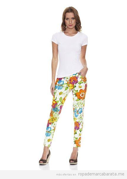 Pantalones flores marca Peace & Love rebajas, outlet online