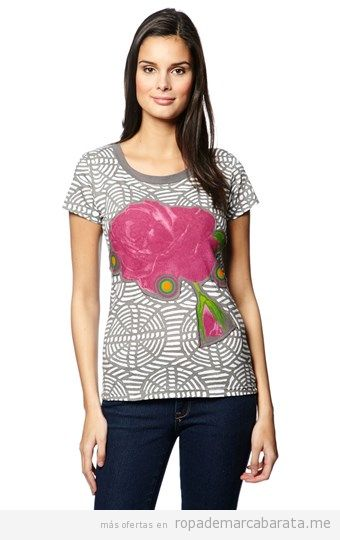 Camiseta mujer marca Desigual barata, outlet online