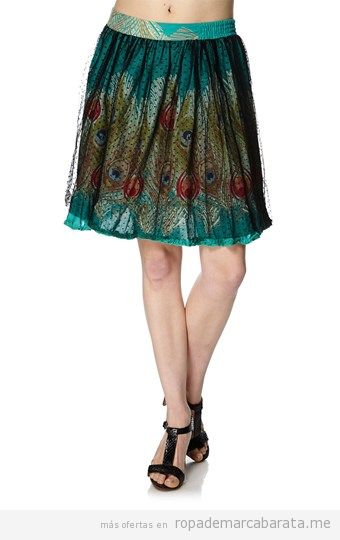 Falda mujer marca Desigual barata, outlet online