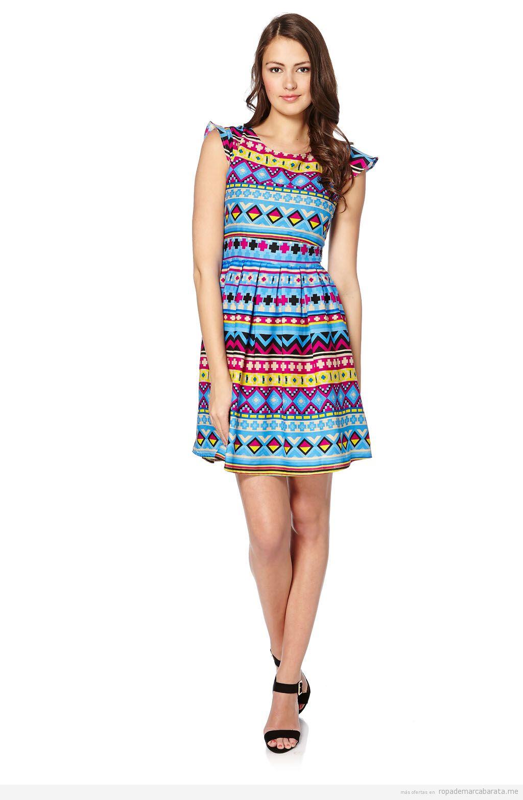 Vestido print geométrico marca Iska London barato, outlet online 3