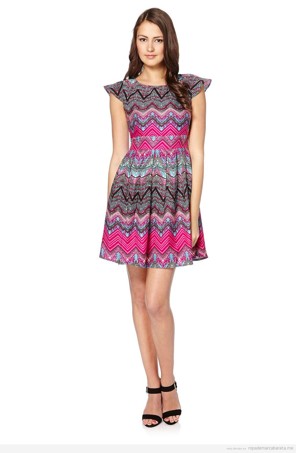 Vestido print geométrico marca Iska London barato, outlet online 2
