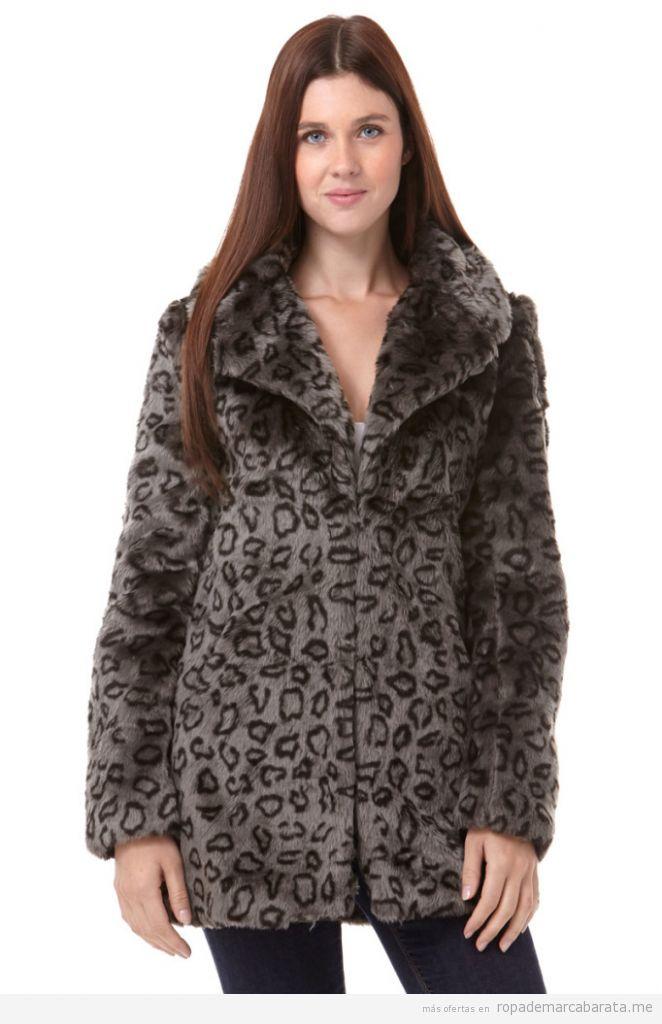 Abrigos pelo print leopardo marca Folia baratos, outlet