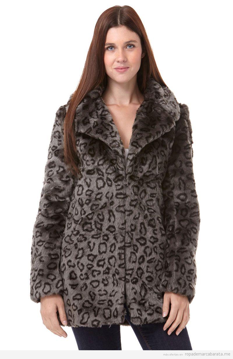 bbffdd216 Abrigos pelo print leopardo marca Folia baratos