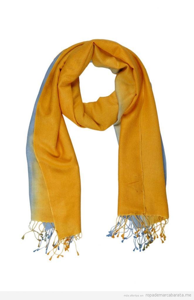 Fular, estola y bufandas de seda y lana marca Kashmir House baratas, outlet online 3