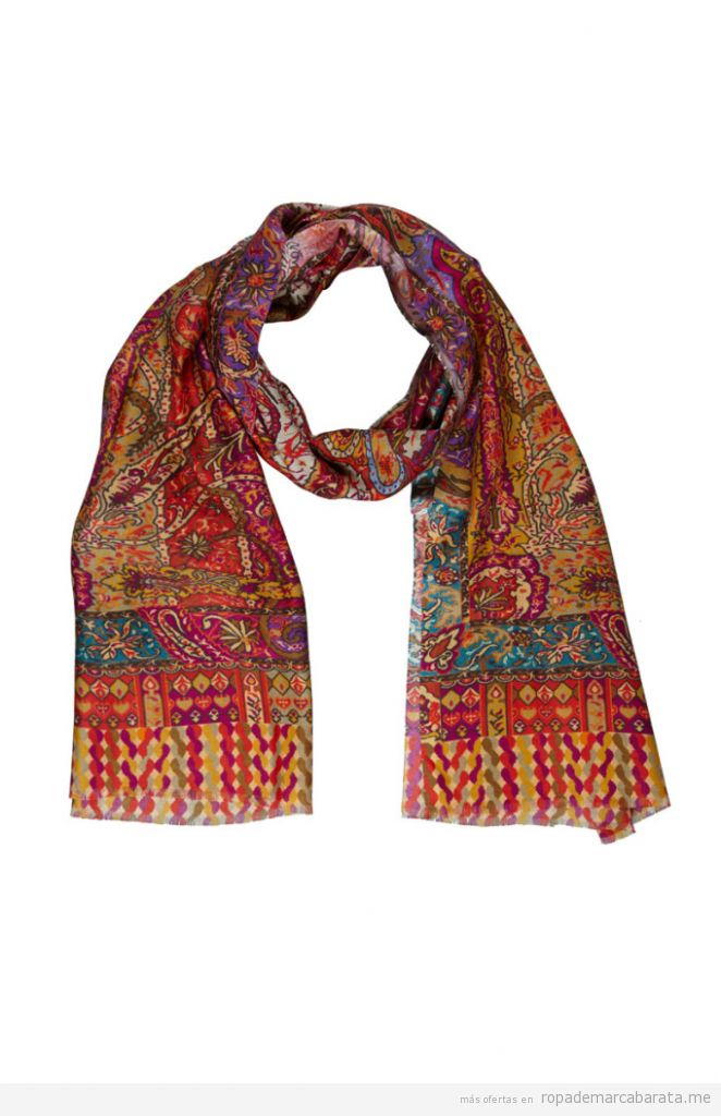 Fular, estola y bufandas de seda y lana marca Kashmir House baratas, outlet online