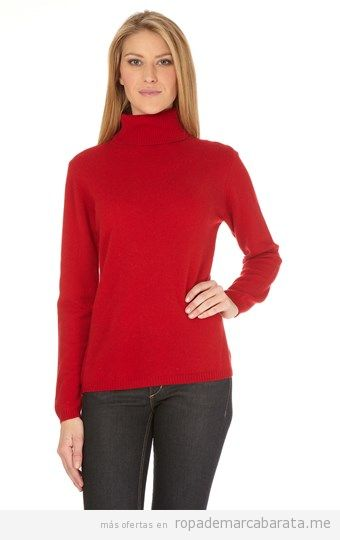 Jersey mujer cuello alto de cachemir barato, outlet online