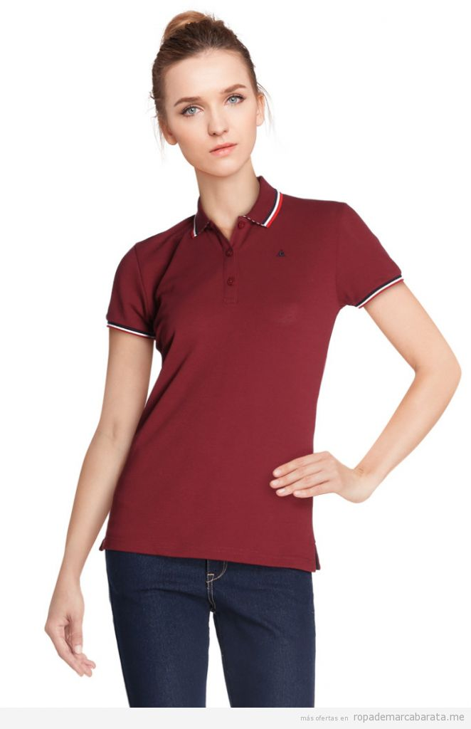 Polo mujer marca Le Coq Sportif barato, outlet online