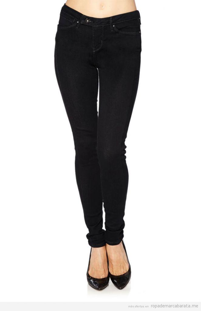 Pantalones vaquero mujer marca Levi's baratos, outlet online 3