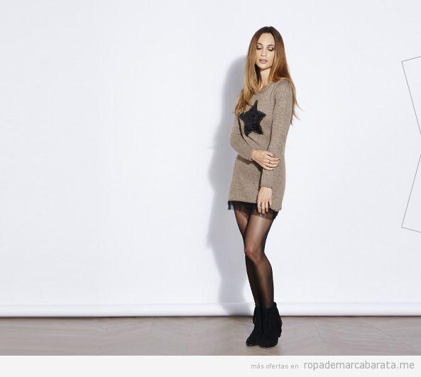 Vestido moderno de punto barato. outlet online