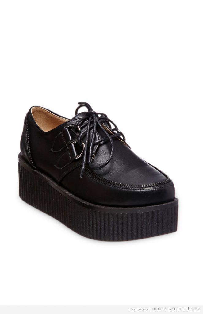 Zapatos creepers de plataforma baratos, outlet online 3