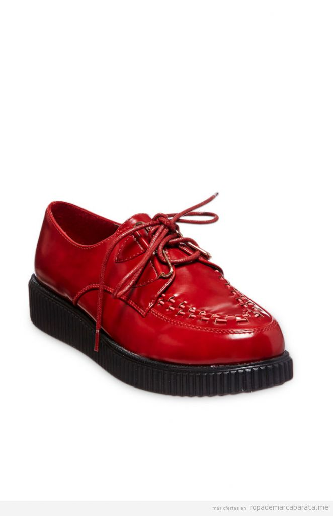 Zapatos creepers de plataforma baratos, outlet online 2
