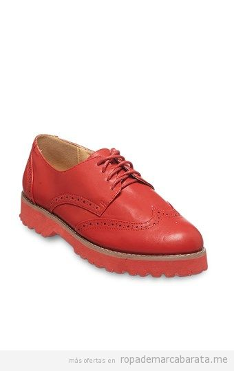 Zapatos derby rojos baratos, outlet online