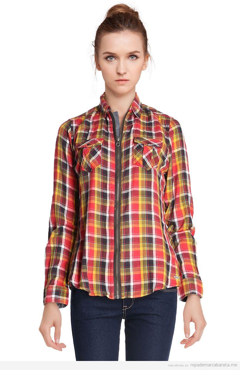 Camisa cuadros chicas marca Lee Copper baratas 56fcede02dac