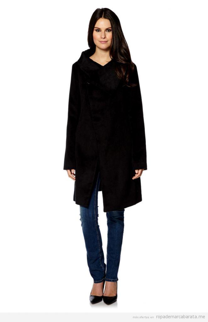 Abrigos mujer cuello amplio marca Fornaria baratos, outlet