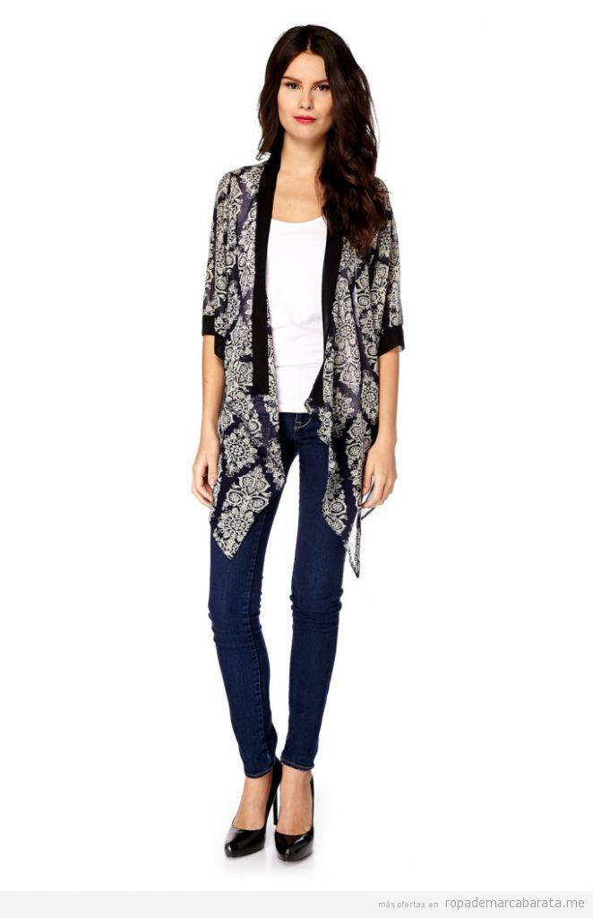 Chaqueta kimono mujer marca Iska baratos, outlet online 2