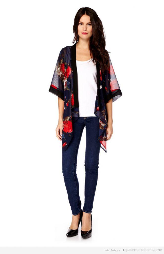 Chaqueta kimono mujer marca Iska baratos, outlet online