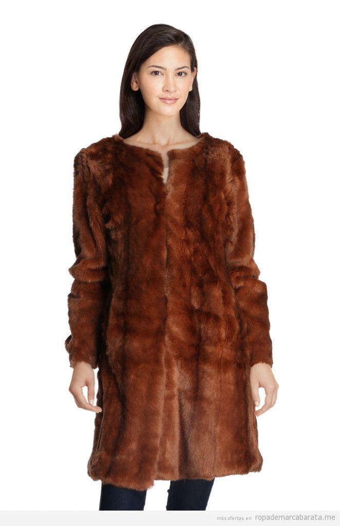 Chaquetas y abrigos de piel sintética baratos, outlet