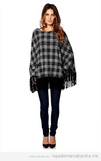 Ponchos de mujer marca French Code baratos, outlet online 3