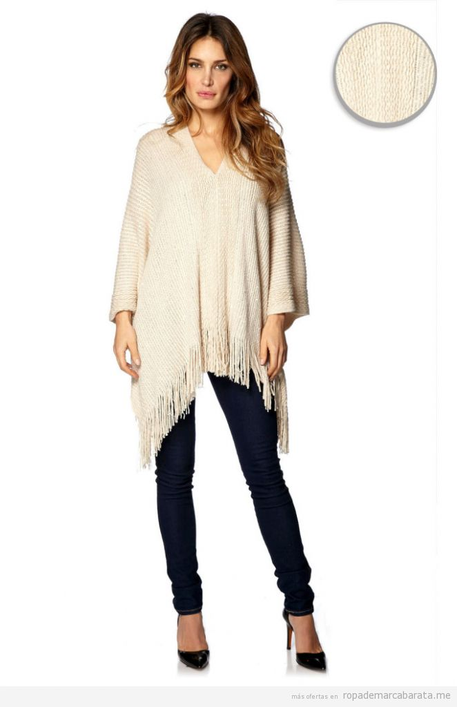 Ponchos de mujer marca French Code baratos, outlet online 2