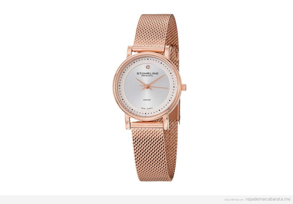 Relojes cuarzo y acero marca Stührling mujer baratos