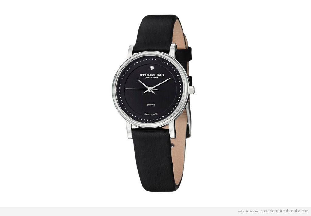 Relojes cuarzo y piel marca Stührling mujer baratos, outlet