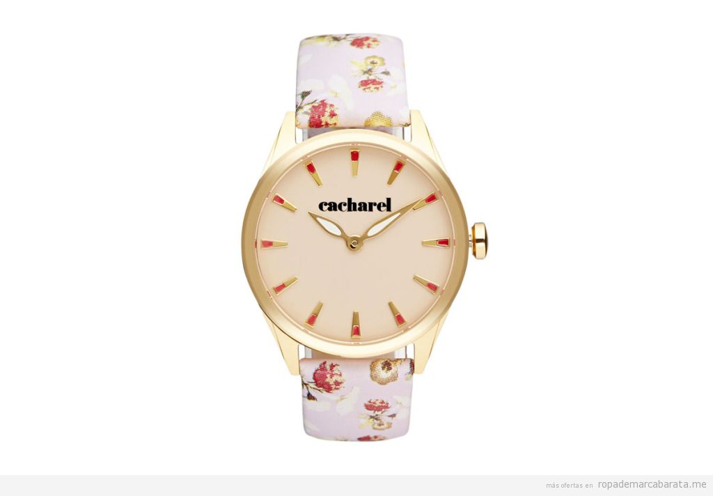 Reloj cuarzo y piel marca Cacharel barato, outlet