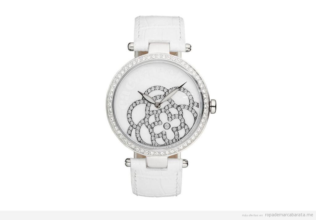 Reloj cuarzo y piel marca Cacharel barato, outlet 2