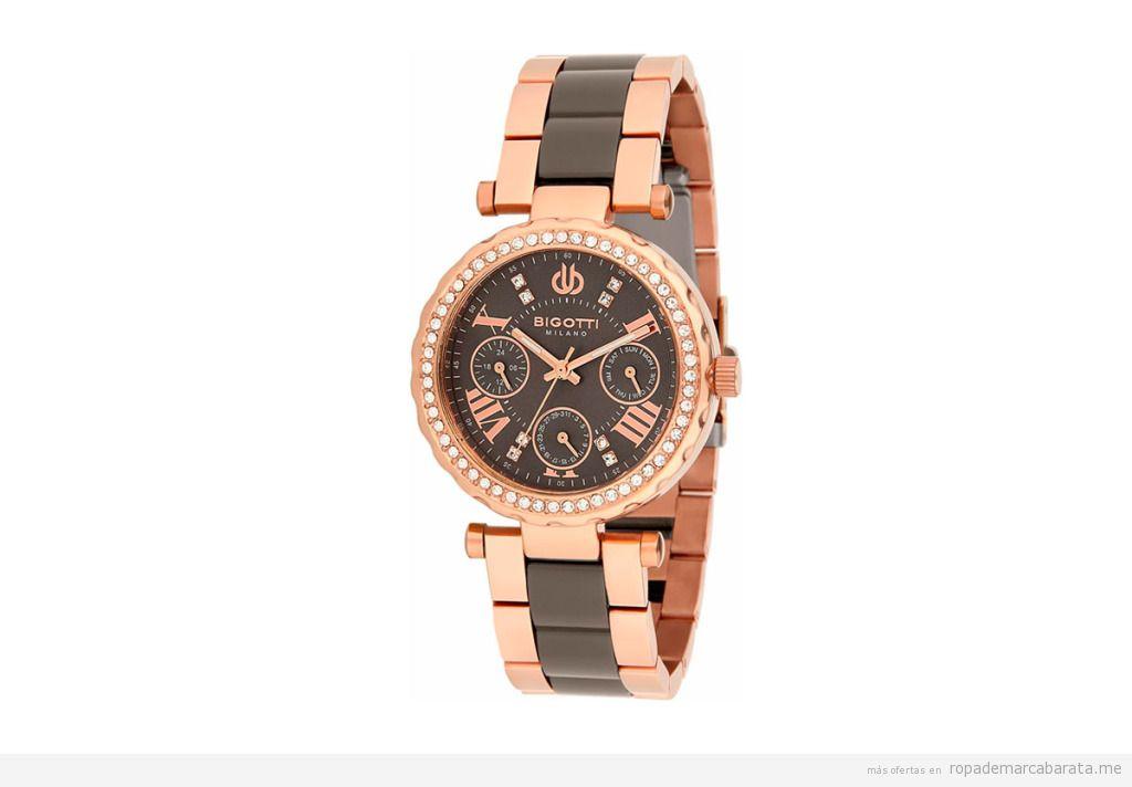 Relojes de acero de mujer marca Bigotti Milano baratos, outlet online