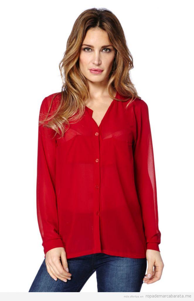 Blusa roja marca Mel Rose barata, outlet