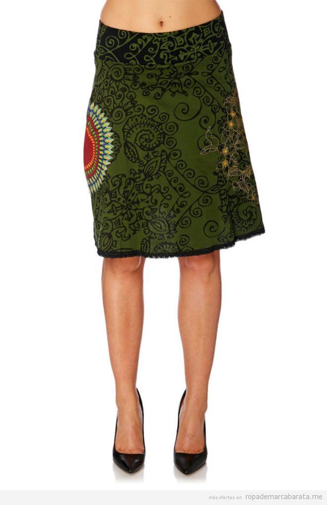 Falda marca Desigual barata, outlet