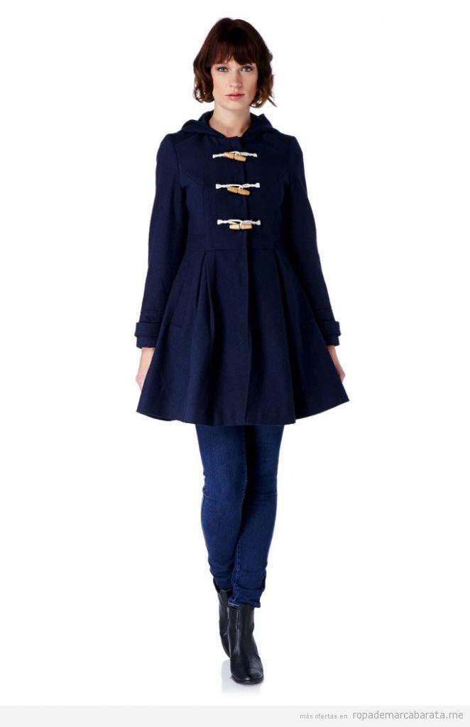 Abrigo trenca de lana marca Yumi barato, outlet online