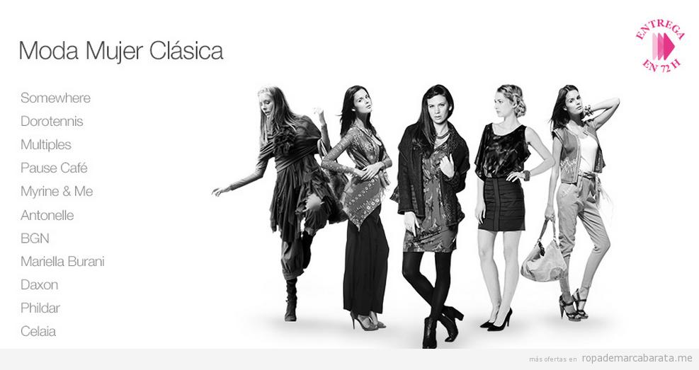 Moda mujer, outlt online distintas marcas