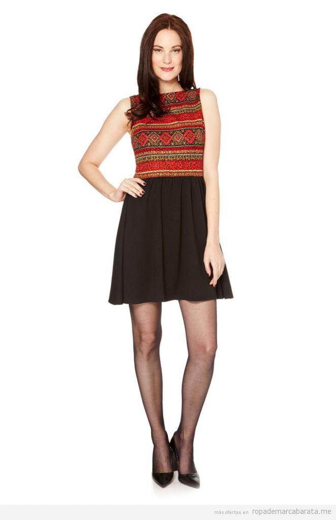 Vestido estampado étnico marca Manoukian barato, outlet online