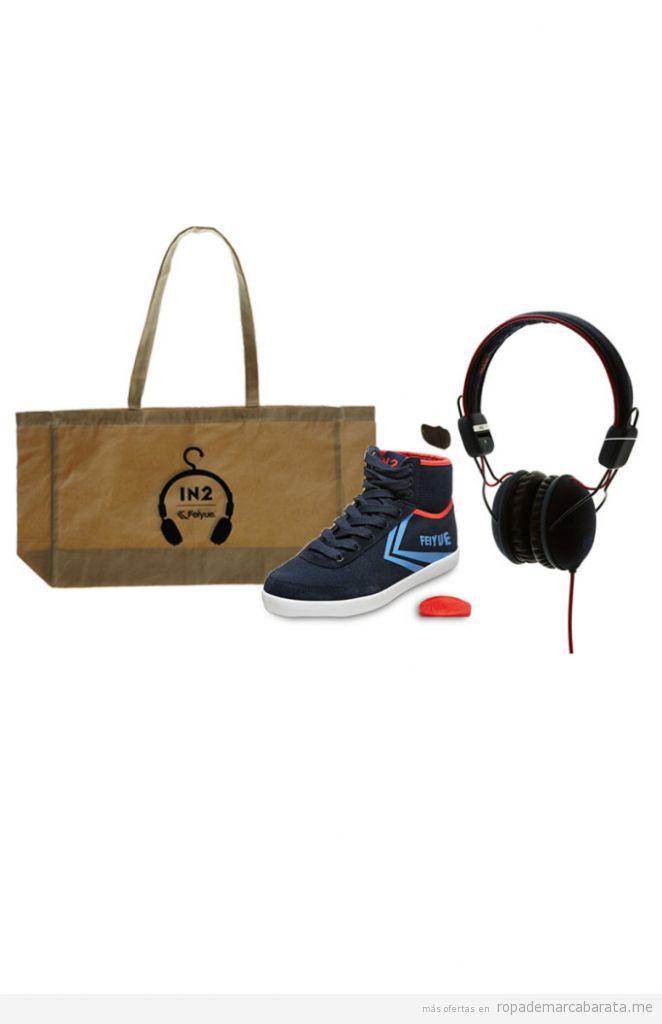 Tenis , auriculares y bolso originales marca Feiyue mujer baratos, outlet online