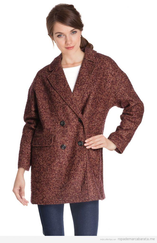 Abrigos lana marca Camaieu baratos, outlet online 2