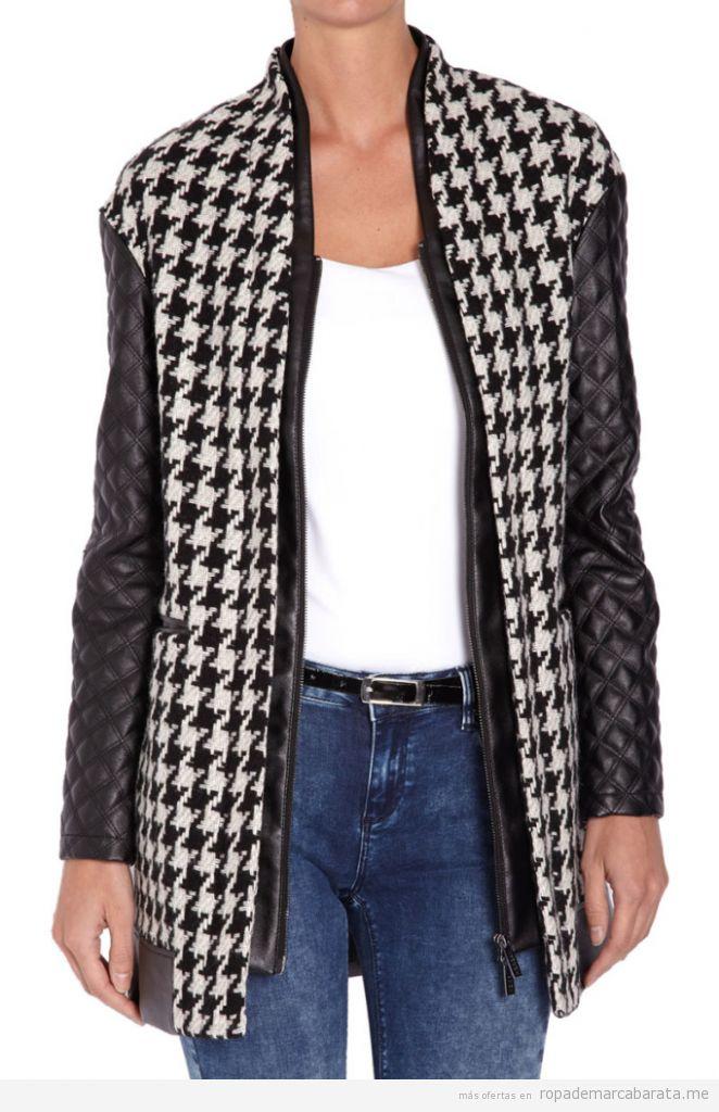 Abrigo pata de gallo marca Morgan de toi barato, outlet online