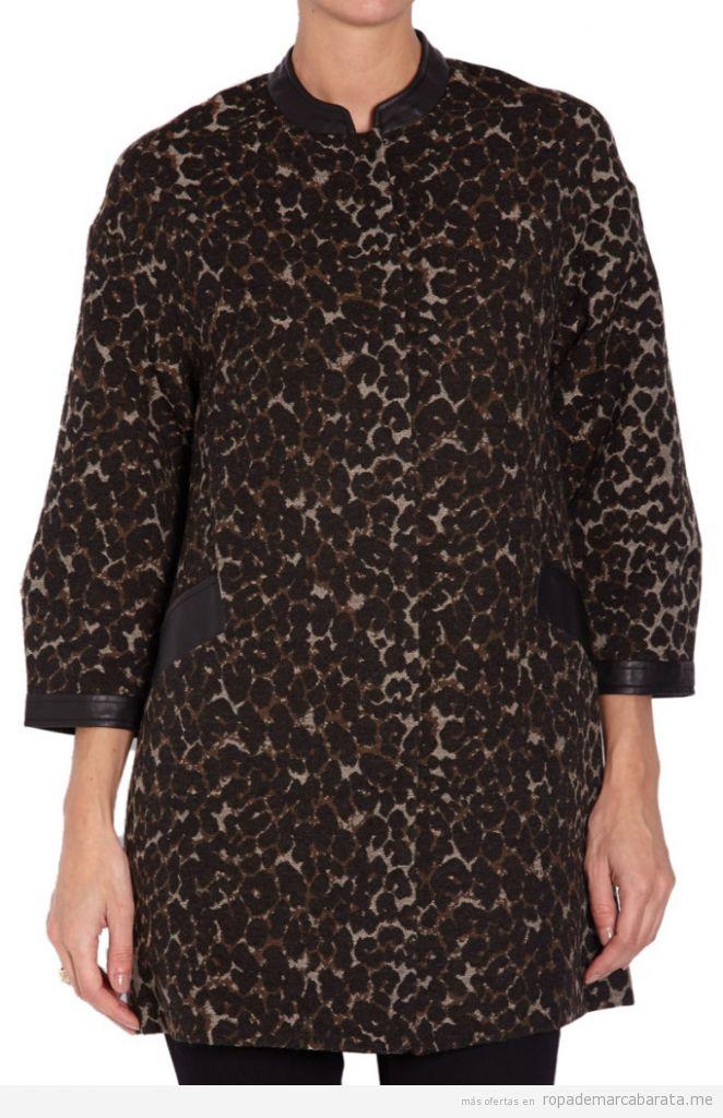 Abrigo animal print marca Morgan de toi barato, outlet online