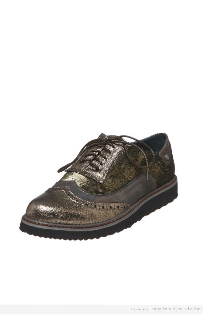 Zapatos Richelieu mujer marca Couleur Porpre baratos, outlet