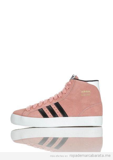 Zapatillas basket marca Adidas color rosa baratas, outlet