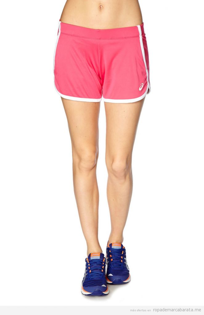 Shorts deporte marca Asiscs mujer baratos, outlet
