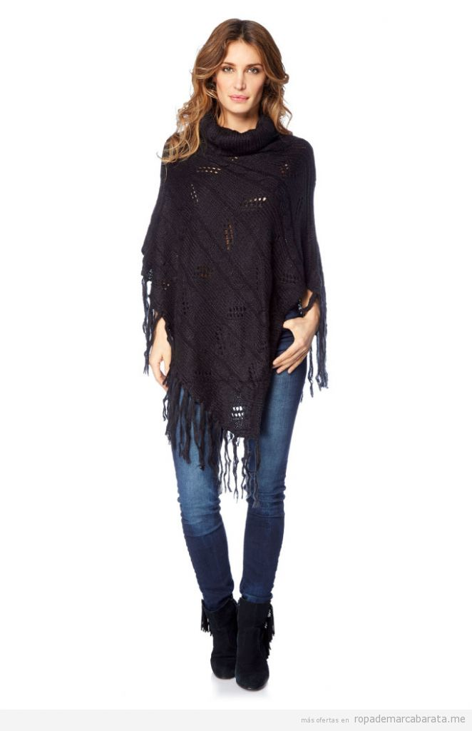 Poncho mujer marca Palme barato, outlet online