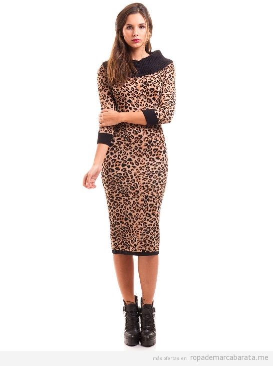 Vestido leopardo marca Morgan, rebajas