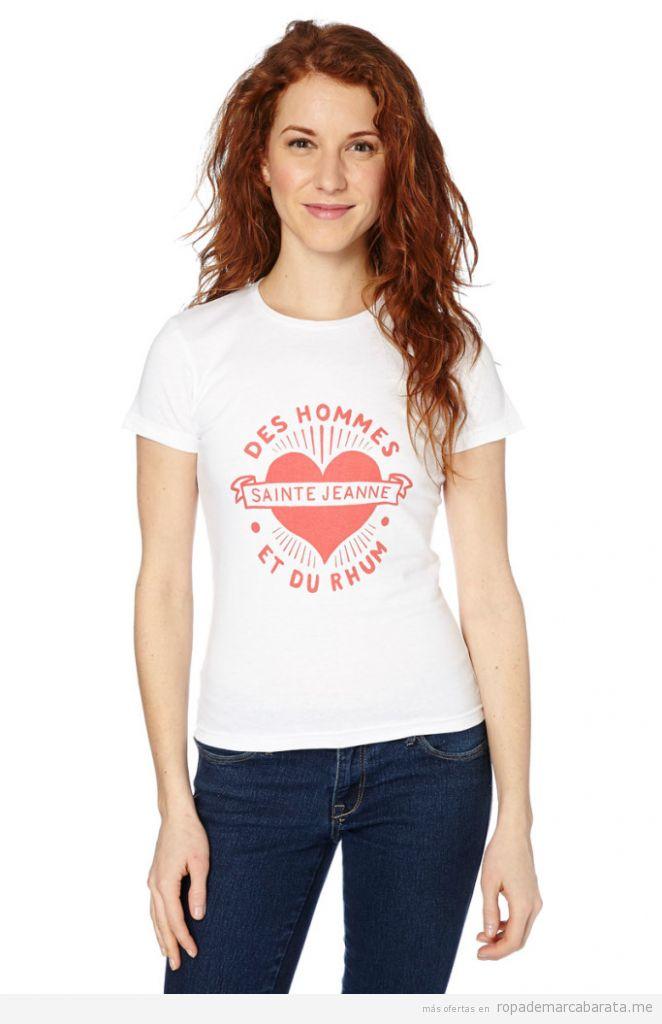 Camiseta manga corta marinera marca Sainte Jeanne baratas, outlet