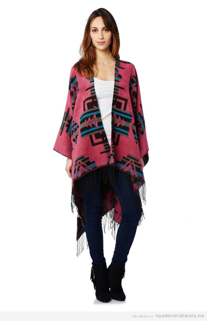 Poncho print tribal marca Peace & Love barato, outlet online