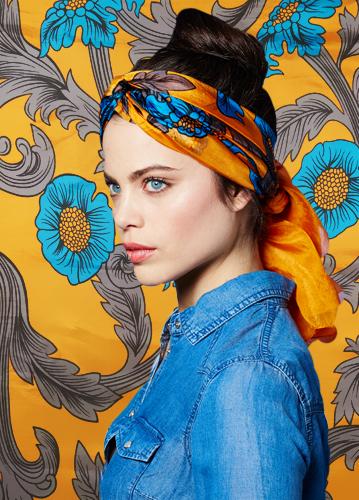 Pañuelos de cabeza de muselina de seda marca Torrente baratos