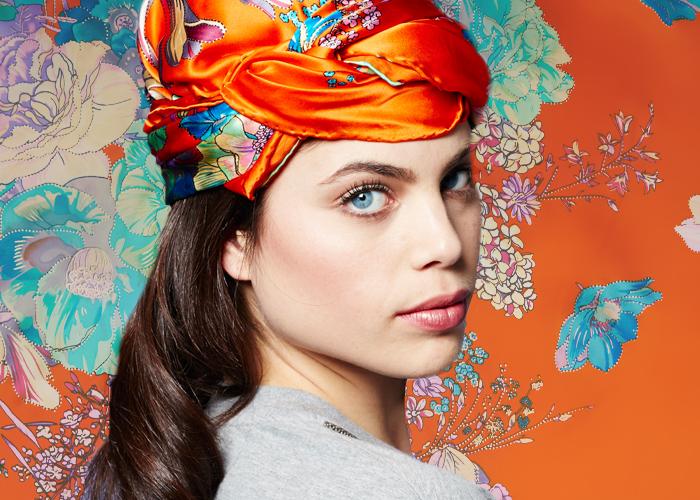 Pañuelos de cabeza de muselina de seda marca Torrente baratos 2