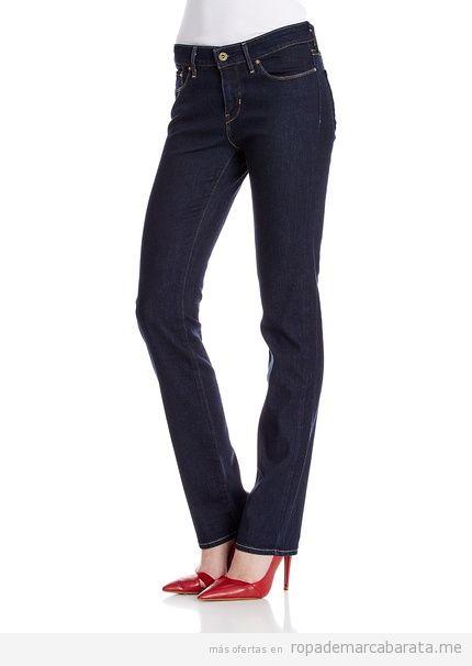 Pantalones vaqueros mujer marca Levi's baratos, outlet 3